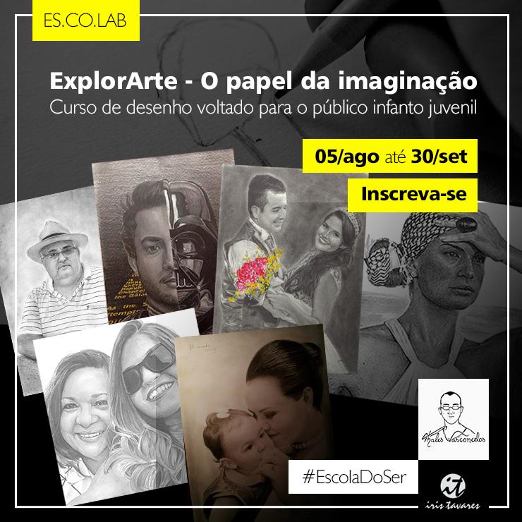 Curso de desenho - ExplorArte O papel da imaginação